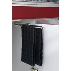 Buy the Rev-A-Shelf Chrome Direct. Shop for the Rev-A-Shelf Chrome 563 Series 2 Prong Towel Bar with Slides and save. Towel Organization, Kitchen Cabinet Organization, Kitchen Storage, Cabinet Organizers, Cabinet Ideas, Kitchen Organizers, Towel Storage, Bath Storage, Bedroom Storage