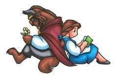 Belle and Beast being cute... by Choco-Kun.deviantart.com on @deviantART