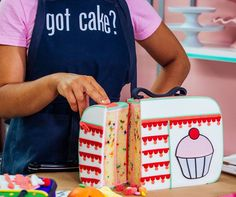 "(@yolanda_gampp) on Instagram: ""Got Cake for lunch? 🍰 How about a whole cake LUNCHBOX!? PS - Don't forget! This apron is ON SALE…"""