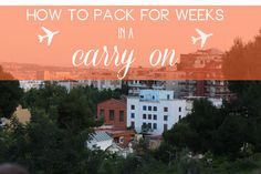 How to pack for WEEKS in a carry-on | Petit Elefant | #travel #luggage #howto #carryon #pack #packing #tips