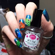 Polished Inka - Finding Nemo Nail Art