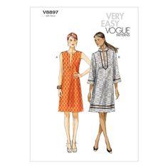 Vogue Misses' Dress Pattern V8897 Size 0Y0