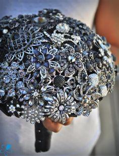 Black Brooch Bouquet