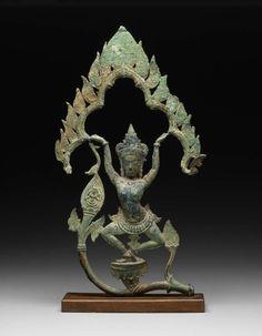 Dancing celestial figure (apsara).       Khmer, Angkor Period, Late 11th century -       Cambodia