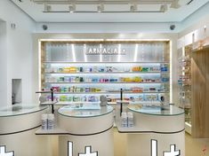 "All Farmacia I+ stores are designed with what might be called ""Lego concept"" so that the design can be adapted to the surface, both 30m2 pharmacy as one of 300m2. We hope you like it."