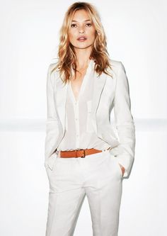White is this summers top color. Specifically white pants for both men and women. Very chic!
