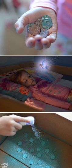 Transform old coins into Glittery DIY Tooth Fairy Coins, perfect for celebrating losing a tooth - Mommy Scene