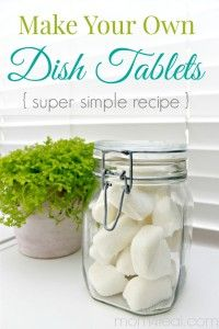 Make Your Own Dishwasher Tablets or Dish Tabs - Super Simple Recipe