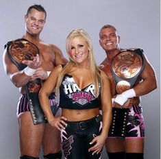 WWE Tag Team Champions New Foundation (Smith and Kidd) with Natalya