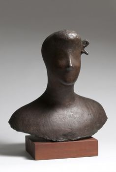 Alexander Archipenko, Angelica (Sarcophagus of Angelica), 1925, cast in 2008, bronze, gold leafed,  12 h x 14 w x 5 7/8 d inches, posthumous cast, inscribed ''6/8FE/Archipenko''
