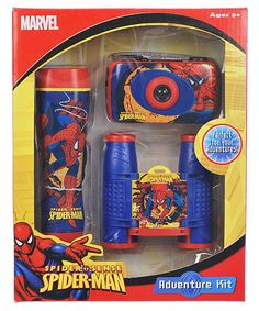 Spider Man Adventure Kit! 35mm Camera, flashlight and binoculars! Everything you need for to be your own superhero!
