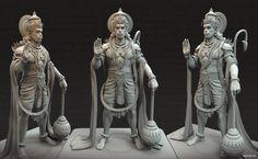 Model Design Anjaneya Hanuman on Behance Hanuman Photos, Hanuman Images, Character Design Animation, 3d Character, Hanuman Tattoo, Lord Rama Images, Lord Hanuman Wallpapers, Lord Ganesha Paintings, Shri Hanuman