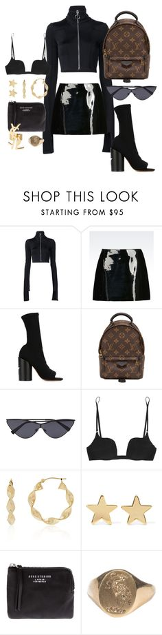 """""""Untitled #574"""" by mimiih ❤ liked on Polyvore featuring Off-White, Emporio Armani, Givenchy, Louis Vuitton, La Perla, Belk & Co., Jennifer Meyer Jewelry, Acne Studios and Yves Saint Laurent"""