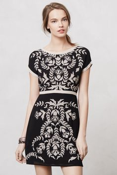 Embroidered Ombra Shift - Anthropologie.com Love this; it just needs to be about 6 inches longer.