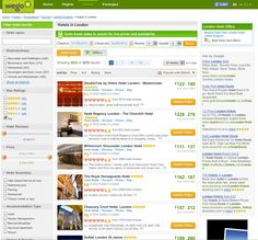 Wego hotel search results, with flexible dates.