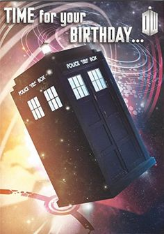 Shop for Official Doctor Who Birthday Card With Recorded Message By Daleks. Compare live & historic toys and game prices. Doctor Who Shop, Doctor Who Gifts, New Doctor Who, Doctor Who Tardis, Birthday Messages, Happy Birthday Cards, It's Your Birthday, Birthday Ideas, Matt Smith
