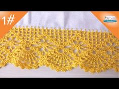 BARRADO EM CROCHE LEQUE ABERTO COM ARANHA - AULA DE CROCHE PASSO A PASSO - PARTE 1 - YouTube Crochet Sock Pattern Free, Crochet Skirt Pattern, Crochet Lace Edging, Granny Square Crochet Pattern, Crochet Borders, Filet Crochet, Crochet Doilies, Crochet Stitches, Crochet Patterns