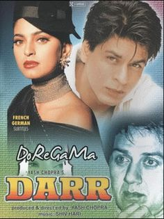 Story Darr 1993 Kiran Awasthi (Juhi Chawla) is engaged to Sunil (Sunny Deol), a successful young navy man who has the approval of Kiran's famil Hindi Movies 2016, Watch Hindi Movies Online, Latest Hindi Movies, Hindi Bollywood Movies, Bollywood Posters, Bollywood News, Srk Movies, Most Popular Movies, Download Free Movies Online