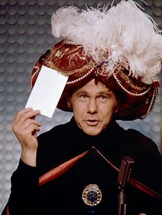 Carnac the Magnificent -- 'the answers have been kept in a hermetically sealed #2 mayonnaise jar on Funk and Wagnall's back porch' -- Johnny first introduced the character in 1964