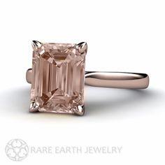 Morganite Solitaire Ring by RareEarth