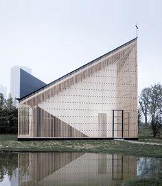 Nanjing Wanjing Garden Chapel by AZL Architects | Church architecture…