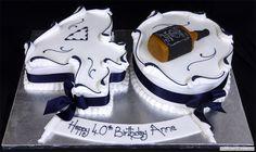 liquor bottle cake | Betting Slip Birthday Cake 003347 Green Coloured Casion Birthday Cake ...