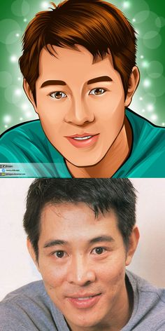 Jet Li Cartoon Anime Looking. I can draw you like this too on my Fiverr's gig, check it out guys. I really like art, cartoon, illustration, design picture
