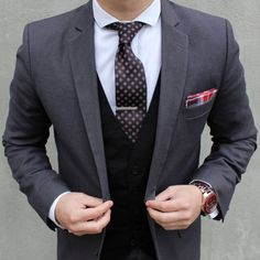 Dapper tie and pocket square combo.