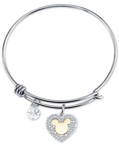 >>>Pandora Jewelry OFF! >>>Visit>> Disney Mickey Mouse Crystal Charm Bracelet in Stainless Steel - Bracelets - Jewelry Watches - Macys Fashion trends Fashion designers Casual Outfits Street Styles Pandora Bracelet Charms, Bangle Bracelets With Charms, Pandora Jewelry, Silver Bracelets, Necklaces, Cute Jewelry, Metal Jewelry, Charm Jewelry, Jewlery