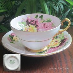 Stanley China by Charles Amison - 389 Bone China Tea Cup and Saucer - Made in England by LauriesFineChina on Etsy