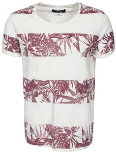 Floral Tee Ss Crew Neck - Jack & Jones - Whisper White - T - Shirts - Clothing - Men - NlyMan.com