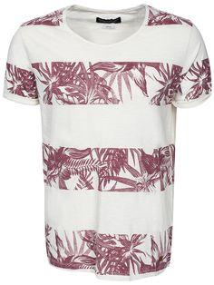 Floral Tee Ss Crew Neck - Jack & Jones - Whisper White - T - Shirts - Clothing - Men - NlyMan.com