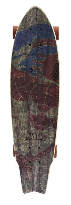 """Ultimate Spider-Man Surf Spider 31"""" Complete Longboard"""
