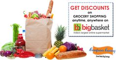 Shopping online for your #grocery just got better!  #OnlineCoupons for #bigbaseket visit: http://www.couponcanny.in/bigbasket-coupons/