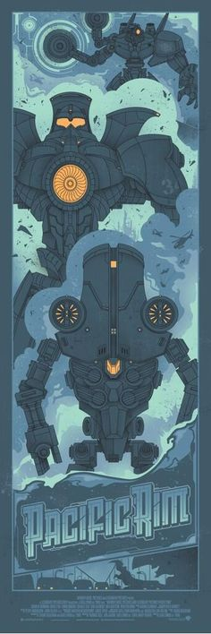 Pacific Rim print by Graham Erwin for Odd City