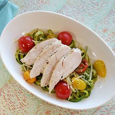 Chicken Breasts with Pesto 'Zoodles'