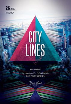 City Lines Flyer by styleWish (PSD template on Graphicriver)