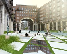 The Madách square is situated in the center of Budapest, and now used as a parking area. Another proposal was designed for a student competition.