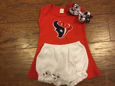 Houston Texan Romper & Bloomer Shorts by YouniqueBabyBoutique on Etsy https://www.etsy.com/listing/474592484/houston-texan-romper-bloomer-shorts