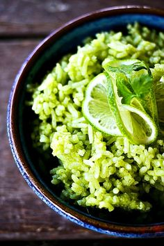 Scallion Cilantro Lime Rice from foodiewithfamily.com Simple side dish that is mind-blowingly delicious!
