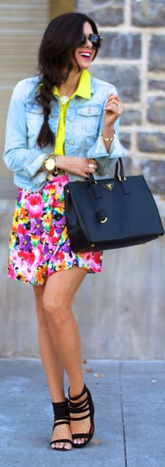 Mason's Bright Floral Mini Skirt by The Sweetest Thing