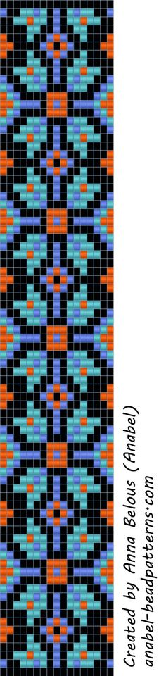 Схема браслета - станочное ткачество / гобеленовое плетение | - Схемы для бисероплетения / Free bead patterns -