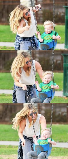 Hilary Duff and her son