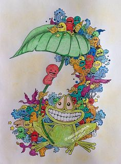 My Happy Frog From Doodle Invasion Coloring Book