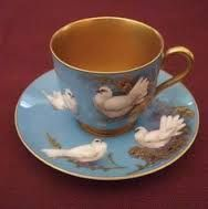 Royal Worcester, Walter Powell, Tea Cup and Saucer.