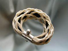 Eero Lintusaari, Nest bracelet, in silver and horse hair. #Finland