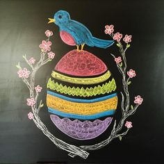 A friend of mine created this Easter chalk drawing. Saving it for future use. Chalkboard Paint Projects, Chalkboard Designs, Chalkboard Ideas, Easter Ideas, Easter Crafts, Christmas Crafts, Chalk Wall, Chalk Board, Chalkboard Sayings