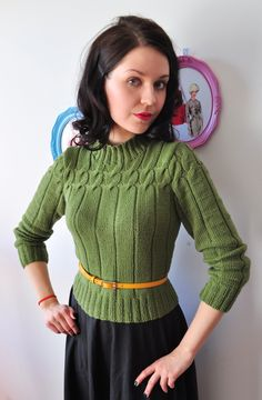 Knitting Patterns Vintage The deeper I dive in to the world of vintage the more I want to bring casual vintage in to my everyd… Quirky Fashion, 40s Fashion, Fashion Mode, Girls Sweaters, Vintage Sweaters, Sweaters For Women, Cardigans, Vintage Fashion 1950s, Mode Vintage
