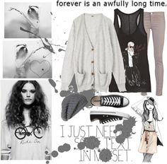 """""""Forever is an awfully long time."""" by sunnyohanan ❤ liked on Polyvore"""