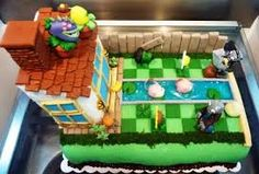 Despite the number of people who seem to love the game, I have never given Plants vs Zombies a chance. From what I have seen of it, it looks fun, I am just not a fan of anything with zombies. Zombie Birthday Parties, Harry Birthday, Zombie Party, Birthday Ideas, 8th Birthday, Birthday Wishes, Birthday Cakes, Plants Vs Zombies, Bolo Zumba